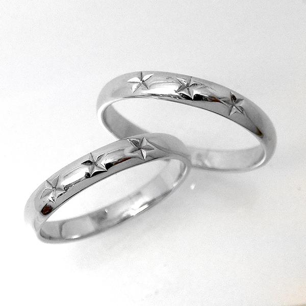 【1本価格】ペアリング 星 スター シンプル 地金 リング 指輪 レディース ニッケルフリー 10金ゴールド 地金カラー全3色 jk-108 K10 結婚指輪 マリッジリング ブライダル ファッションリング 埋め込み お返し