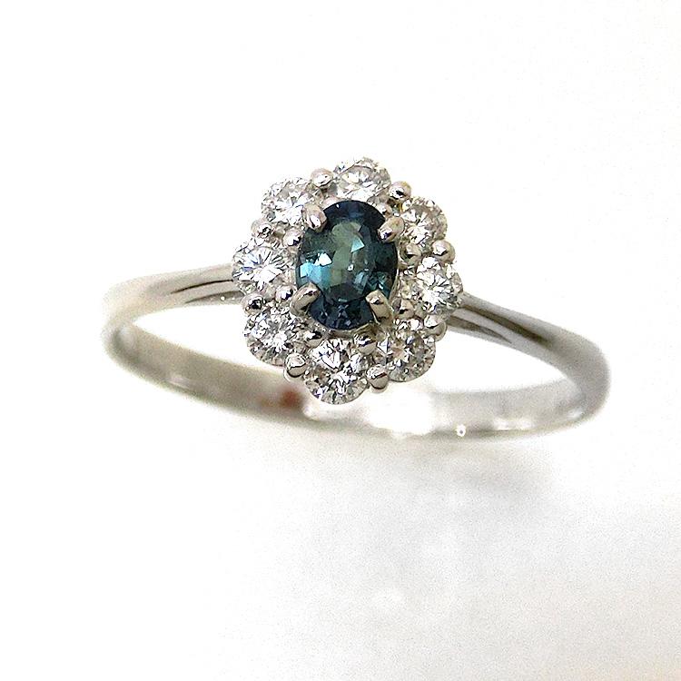 プラチナ アレキサンドライト pt900 ダイヤモンド 指輪 ファッションリング alo15424 レディース ジュエリー 天然石 宝石 お返し 還暦祝 送料無料 通学