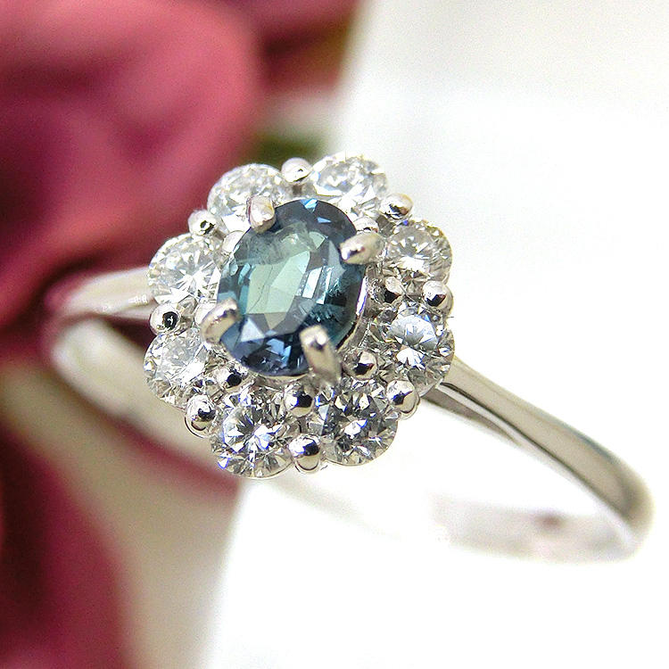 プラチナ アレキサンドライト pt900 ダイヤモンド 指輪 ファッションリング alo15424 レディース ジュエリー 天然石 宝石 お返し