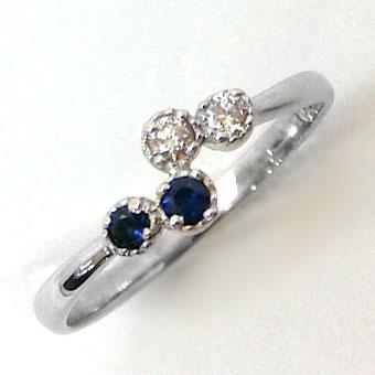 K10 リング 指輪 2mm ダイヤモンド サファイア ニッケルフリー 10金ゴールド 地金カラー全3色 1号から20号 yk-269 天然石オーダー 誕生石(nnm) お返し