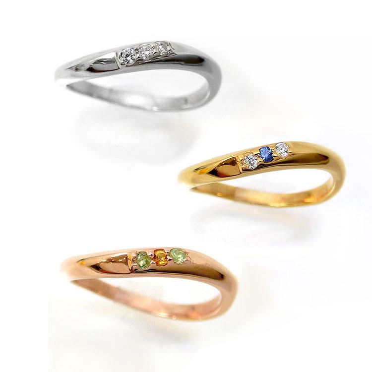 【1本単体】ペアリング マリッジリング 結婚指輪 レディース メンズ ニッケルフリー 10金 ダイヤモンド 1号から29号 yk308 (yk307set) お返し 父の日