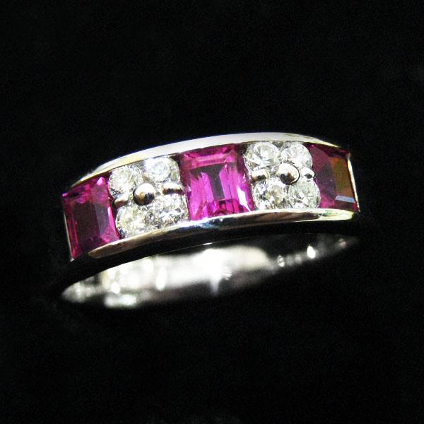 ファッションリング PT(プラチナ)ルビー(7月誕生石)(7月誕生石) ダイヤモンド 指輪 r-r01 パワーストーン 厄除けのお守り効果(赤色) ジュエリー 天然石 宝石 ダイアモンド 1点もの(TGS2) お返し