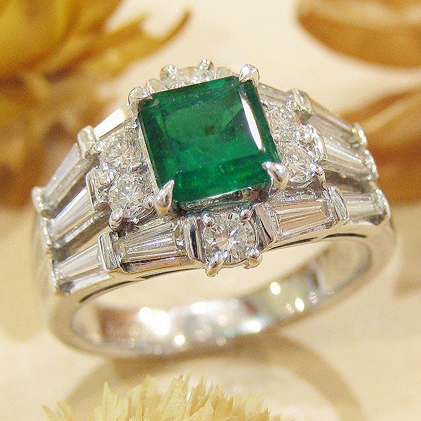 エメラルド リング 鑑別書付 プラチナ PT900 (5月誕生石) ダイヤモンド 指輪 mr304312 レディース ジュエリー 天然石 宝石 パワーストーン 鑑別書付き ダイア 1点もの bkp40 お返し