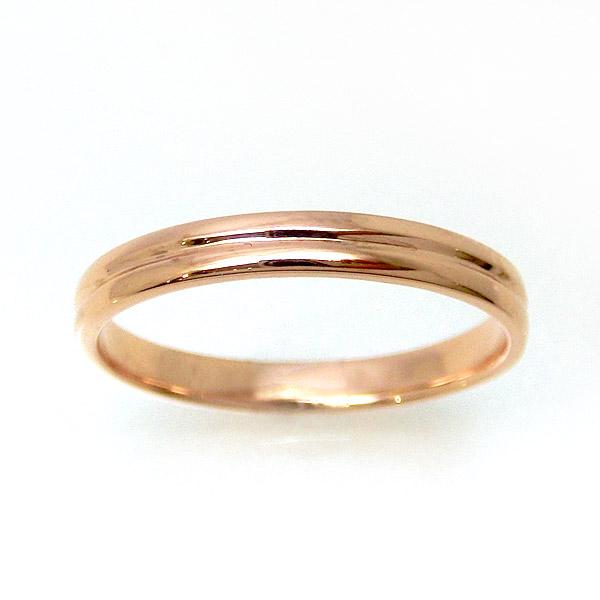 【お見積り商品】地金リング 指輪 レディース メンズ 重ね付け風 ゴドロン風 重なり ペアリング マリッジリング 結婚指輪 ニッケルフリー 10金ゴールド 地金カラー全3色 yk-288 K10 お返し 父の日