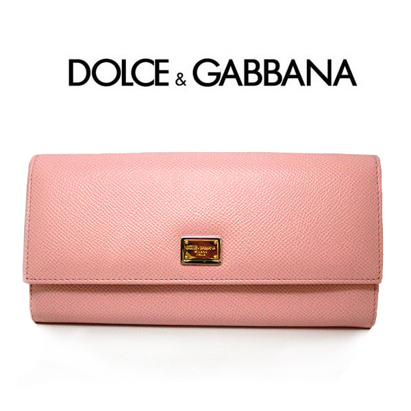 f0181d6ff7d Dolce & Gabbana long wallet ドルガバ wallet DOLCE & GABBANA Continental wallet  bl0087 D&G folio wallet cover leather 8052087554169 Lady's pink