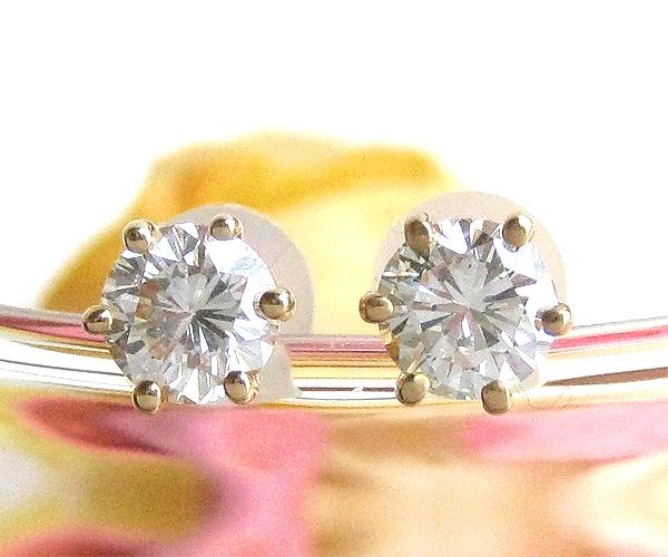 【40周年記念粗品付】ピアス K18(18金) ゴールド YG ダイヤモンド 1粒(一粒) 723 ダイヤ(4月誕生石) ジュエリー 天然石 宝石 フォーマル ダイアモンド スタッド 即納 間に合う 急ぎ 母の日 お返し