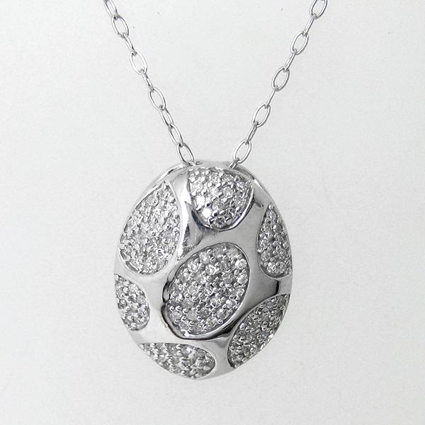 ネックレス ダイヤモンド ペンダント K18WG 18金ホワイトゴールド mr639587 レディース ダイヤ(4月誕生石) ジュエリー 天然石 宝石 記念日 ダイアモンド ユニーク おもしろ デザイン 即納 間に合う 急ぎ お返し