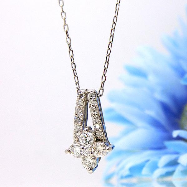 ネックレス プラチナ PT ダイヤモンド ペンダント 0.27ct mr539359 レディース ダイヤ 4月誕生石 ジュエリー 天然石 宝石 フォーマル 記念日 ダイアモンド 即納 間に合う 急ぎ お返し