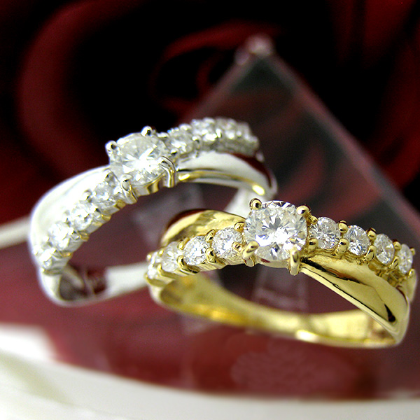K18YG ダイヤモンド 18金 イエローゴールド 指輪 fa115001 レディース ダイヤ(4月誕生石) ジュエリー 天然石 宝石 ダイアモンド お返し ファッションリング