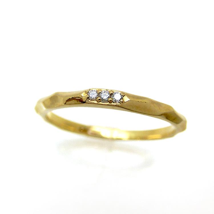 ダイヤモンド リング K10 3石 指輪 レディース 10金ゴールド 地金カラー jk5068 10金  お返し