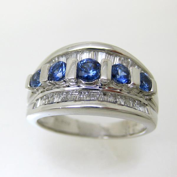 サファイア リング PT900 プラチナ900 指輪 s3953 鑑別書付 9月誕生石 レディース ジュエリー 宝石 ダイヤ サファイヤ 記念日 還暦 bkp50 293000 お返し