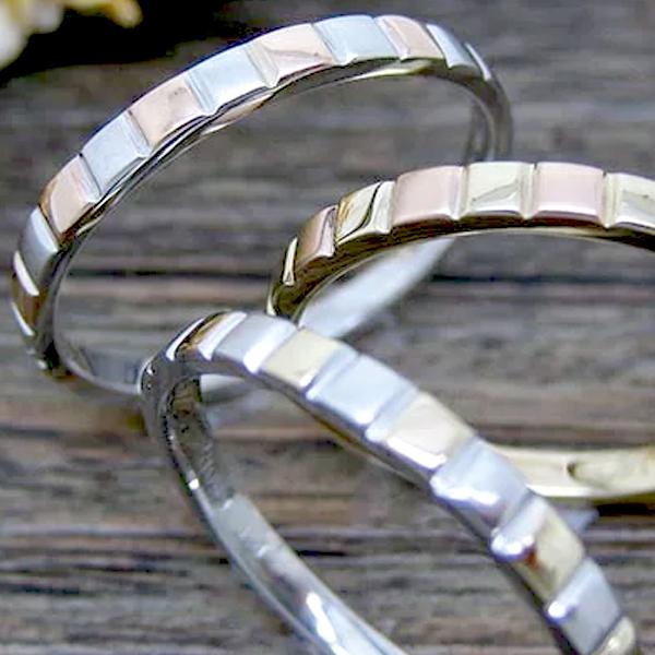 【お見積り商品】ゴールド地金リング 指輪 レディース ニッケルフリー 10金ゴールド 地金カラー全3色 1号から29号 yk-137 K10 結婚指輪 マリッジリング ブライダル ペアリング 格子柄 ライン ふっくら