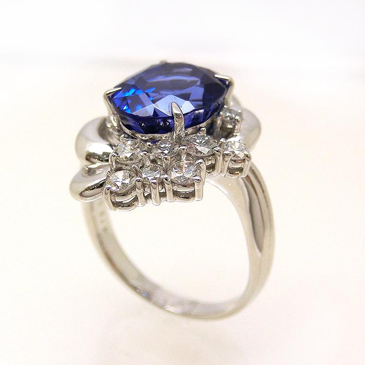 タンザナイト リング 指輪 PT900 プラチナ yo278378 指輪 レディース 12月誕生石 天然石(t907)  (e)