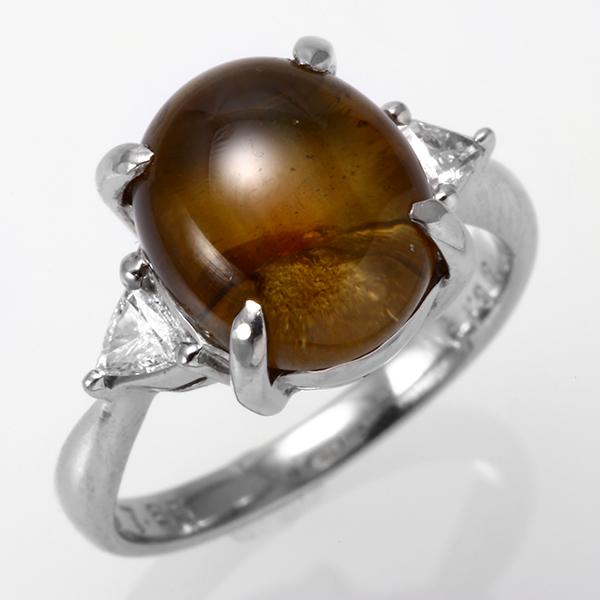 キャッツアイ リング プラチナ PT900 ダイヤモンド 指輪 pr147sp レディース パワーストーン ジュエリー 天然石 宝石 ダイアモンド ファッションリング ファンシー エレガント 1点もの825000 bkp お返し