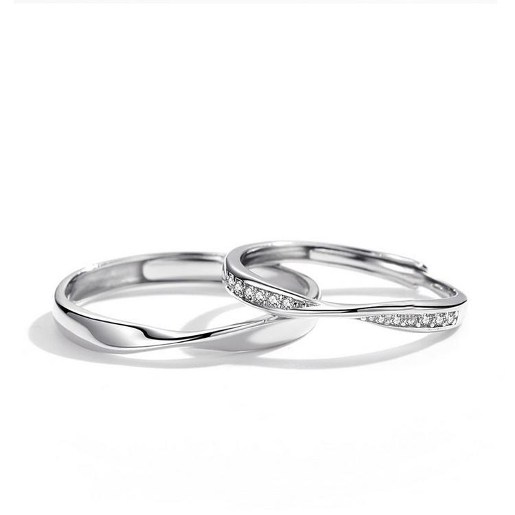 【2本セット】ペアリング 結婚 指輪 シルバーリング SV925 シルバー サイズ調整 chab-svrg2 お返し
