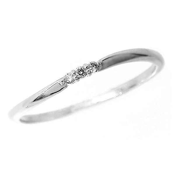 【お見積り商品】3石ダイヤモンドリング 指輪 レディース ニッケルフリー 10金地金カラー全3色 1号から20号 jk-5009 お返し