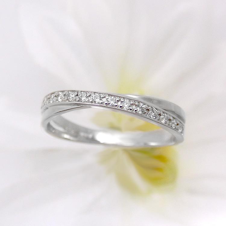ダイヤモンド リング K10 15石 指輪 レディース 10金ホワイトゴールド 地金カラー jk5072 10金  お返し