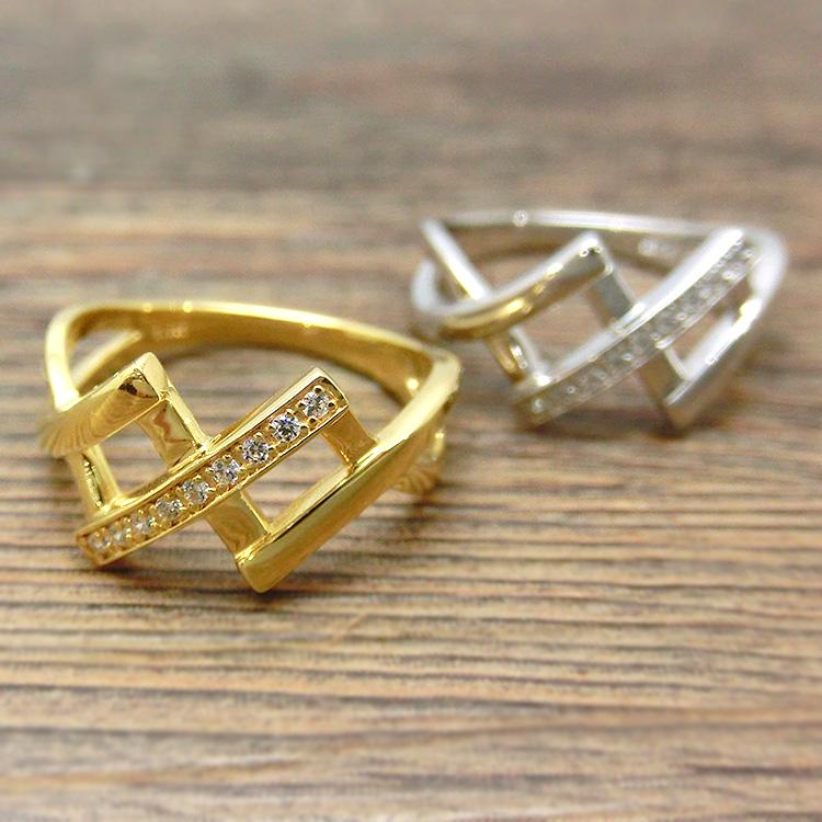ダイヤモンド リング K10 9石 指輪 レディース 10金ゴールド 地金カラー jk5076 10金 (suk) お返し