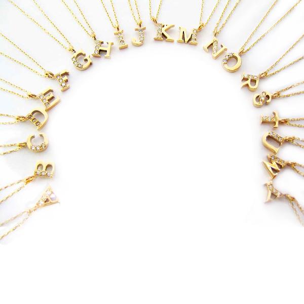 ネックレス K10(10金) アルファベットニシャル ダイヤモンド ペンダント イエローゴールド s1053722 レディース 4月誕生石 ジュエリー 天然石 宝石 ダイアモンド 即納 間に合う 急ぎ お返し