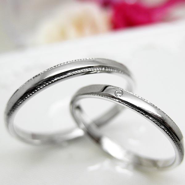 ペアリング Lien リアン 指輪 ダイヤモンド 4月誕生石(レディース) プラチナ メンズ レディース 結婚指輪 婚約指輪 一粒 ジュエリー 宝石 sm13911145-46 ダイアモンド お返し 父の日