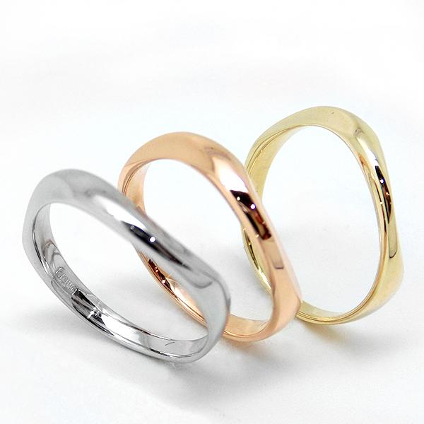 【お見積り商品】10金ゴールド地金リング 指輪 レディース ニッケルフリー 地金カラー全3色 1号から29号 yk-147 K10