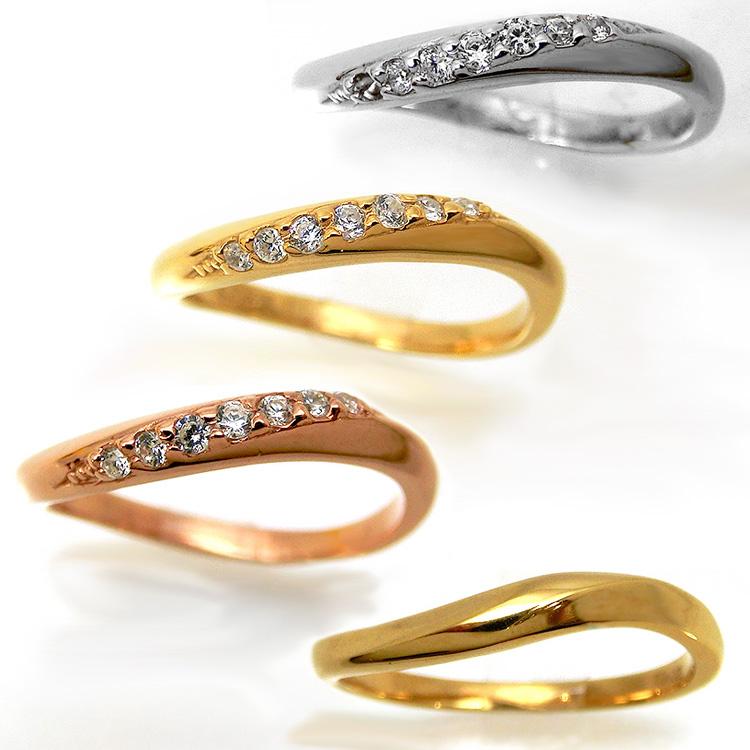 【2本セット】ペアリング マリッジリング 結婚指輪 レディース メンズ ニッケルフリー 10金 ダイヤモンド 1号から29号yk311 yk307 (yk307set) お返し 父の日