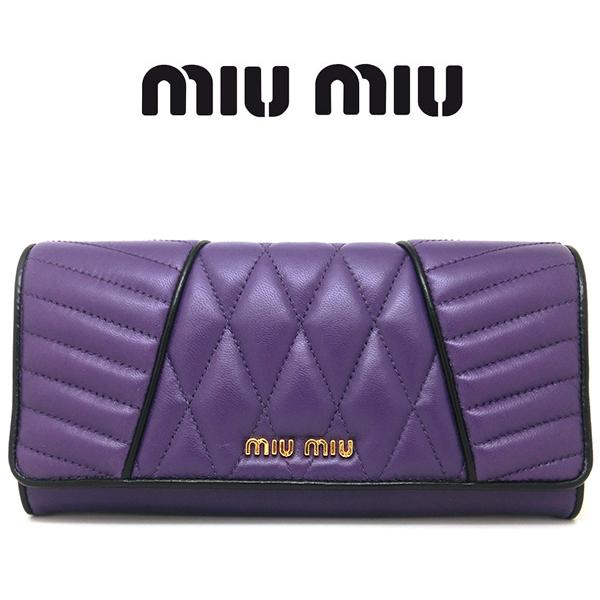 ミュウミュウ 長財布 miumiu 財布 MIUMIU 二つ折り MiuMiu ブランド財布 5m1109 ロングウォレットミウミウ ミュウ・ミュウ(sale)