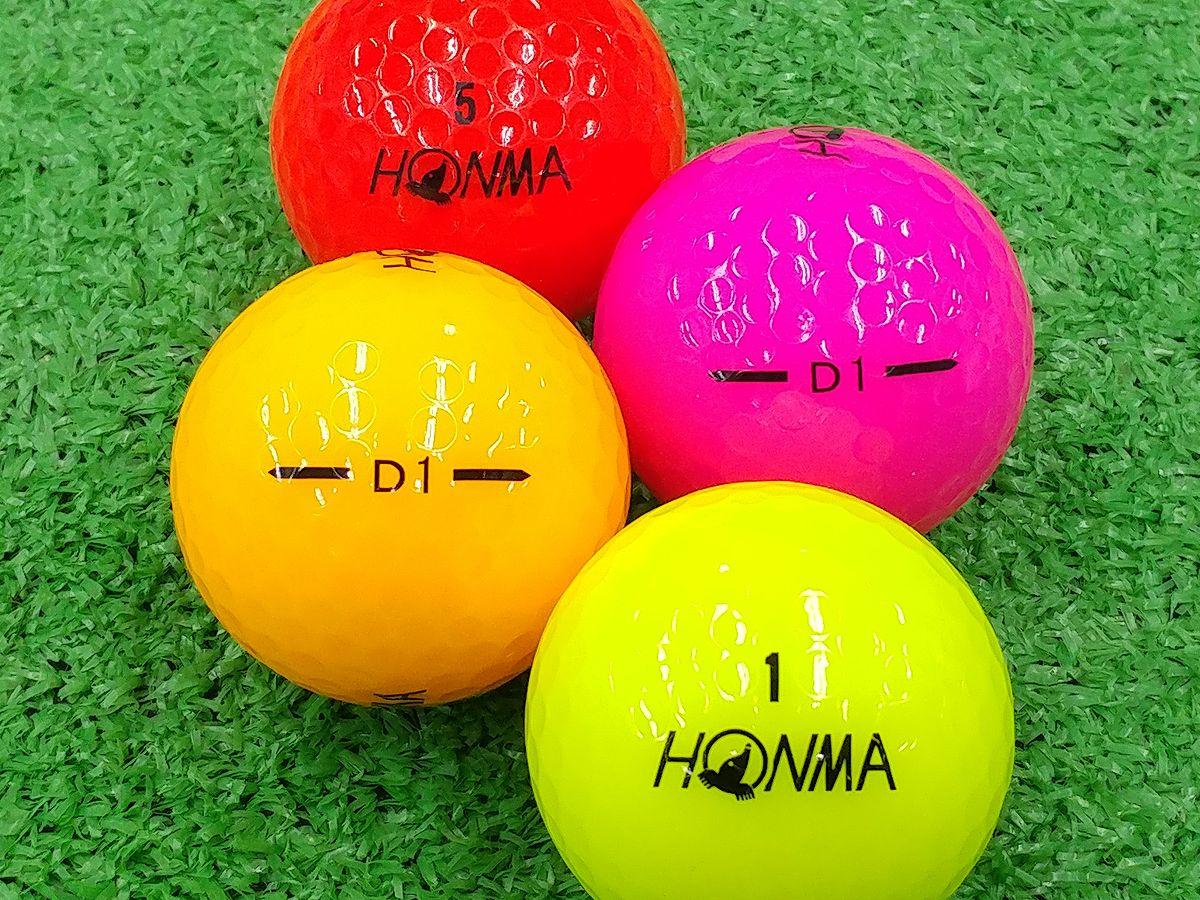 【Aランク】【ロゴなし】本間ゴルフ D1 2016年モデル カラー混合 100個セット【あす楽】【ロストボール】【中古】