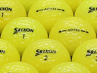 【ABランク】【ロゴなし】スリクソン AD333 2011年モデル パッションイエロー 100個セット【あす楽】【ロストボール】【中古】