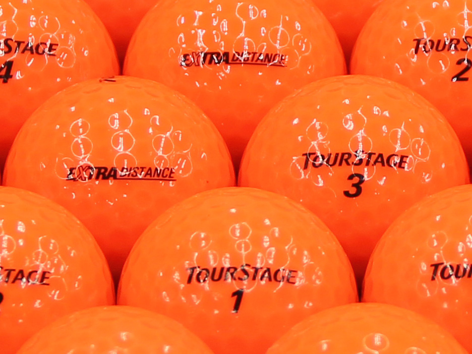 【ABランク】【ロゴなし】ツアーステージ EXTRA DISTANCE 2014年モデル オレンジ 200個セット【あす楽】【ロストボール】【中古】