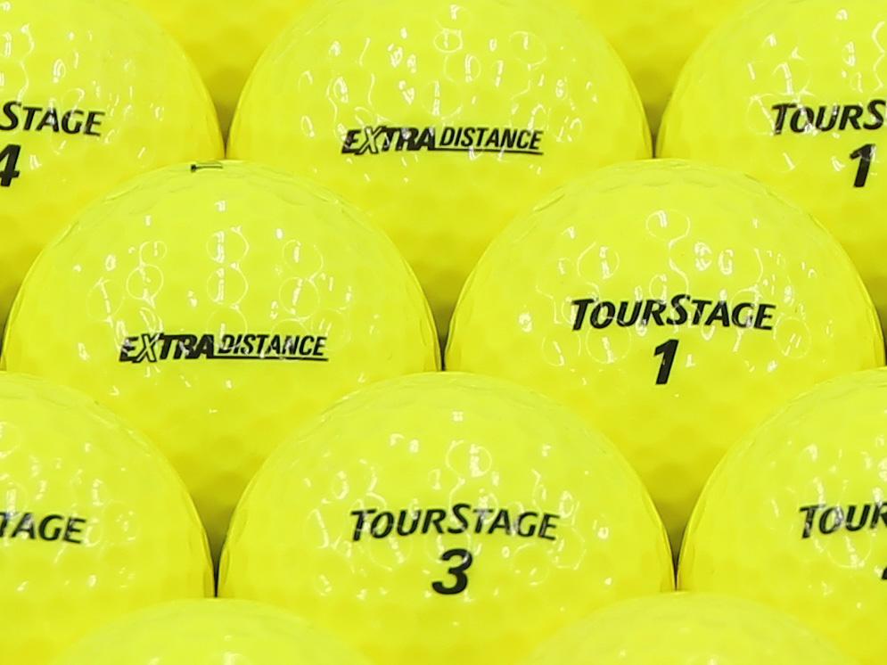 【ABランク】【ロゴなし】ツアーステージ EXTRA DISTANCE 2014年モデル イエロー 500個セット【あす楽】【ロストボール】【中古】