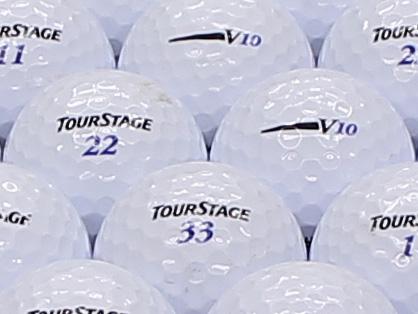 【ABランク】【ロゴなし】ツアーステージ V10 2012年モデル ホワイト 200個セット【あす楽】【ロストボール】【中古】