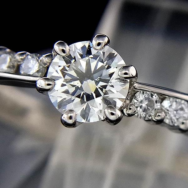Pt950ハート&キューピッドダイヤ指輪0.250ct/0.17ct/H-SI1/EX/2.8g/10.5号【中古】送料無料