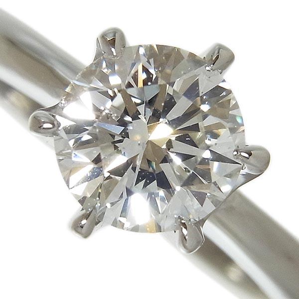 【田崎真珠】TASAKI タサキPt900ダイヤ指輪 1.067ctG.SI-1.VG/4.5g/9号【中古】送料無料