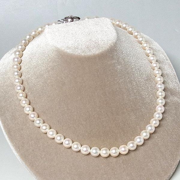 あこや真珠ネックレス真珠ネックレス 7.5-8.0mm K14WGクラスプ43cm【中古】送料無料