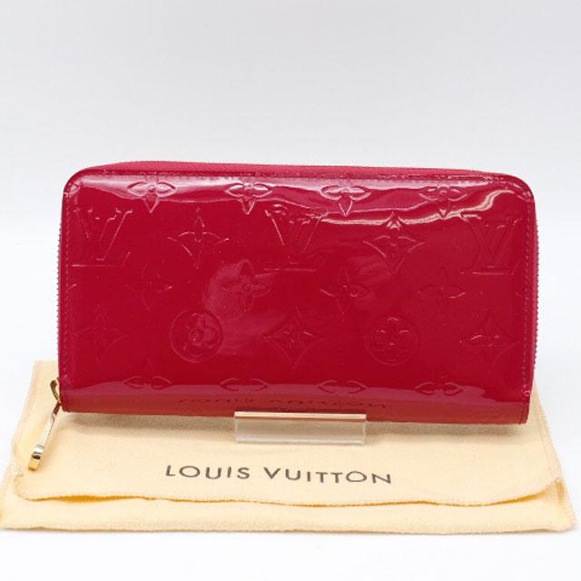 【LOUIS VUITTON】 ルイヴィトン ヴェルニ ジッピーウォレット M93058/ ホットピンク【中古】