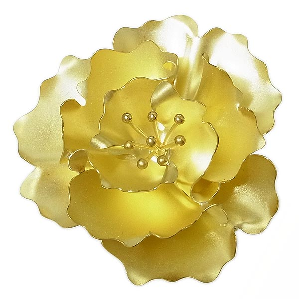 K18花柄デザインペンダント兼ブローチ17.6g【中古】