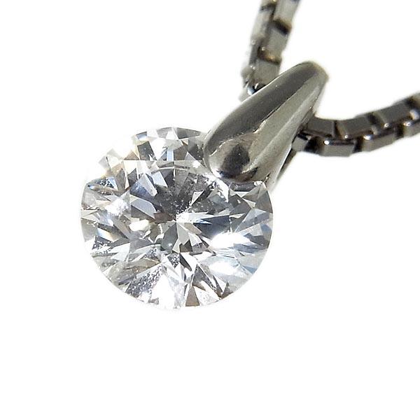ハート&キューピッドダイヤモンドPt850ダイヤ プチネックレスD0.309ct/3.3g/D,VS-2,EX【中古】送料無料