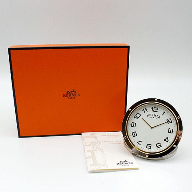 【HERMES】エルメスクリッパーリーベル置時計CL1.706.130 【中古】