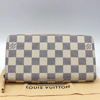 【LOUIS VUITTON】ルイ・ヴィトン ダミエアズール ジッピー・ウォレット N60019【中古】