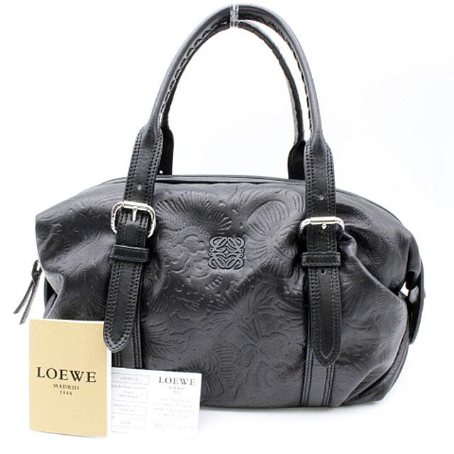 【LOEWE】ロエベ カネラ ハンドバッグ シープスキン/ブラック【新古品・未使用】