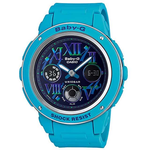 CASIO カシオ Baby-G ベビーGコズミックインデックスシリーズBGA-150GR-2B ネイビー×ブルー 腕時計海外モデル 新品