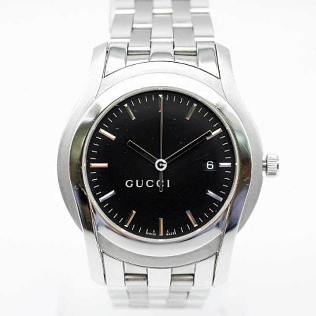 【GUCCI】グッチ SS 5500XLメンズ腕時計 ブラック【中古】
