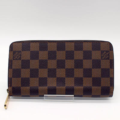 【LOUIS VUITTON】ルイ・ヴィトン ダミエ ジッピーウォレット N60015【中古】
