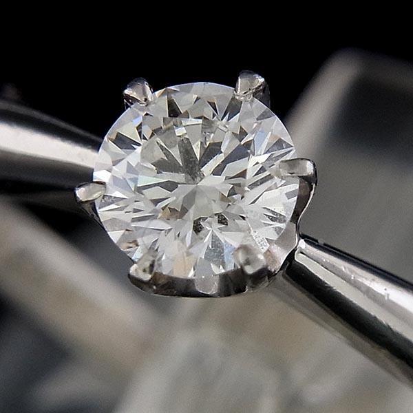 フォーエバーマークPt900ダイヤ指輪FOREVERMARK鑑定書付D:0.27ct/G/VS-1/EX/3.8g/7号【中古】