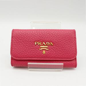 【PRADA】プラダキーケース6本用ピンク 【中古】