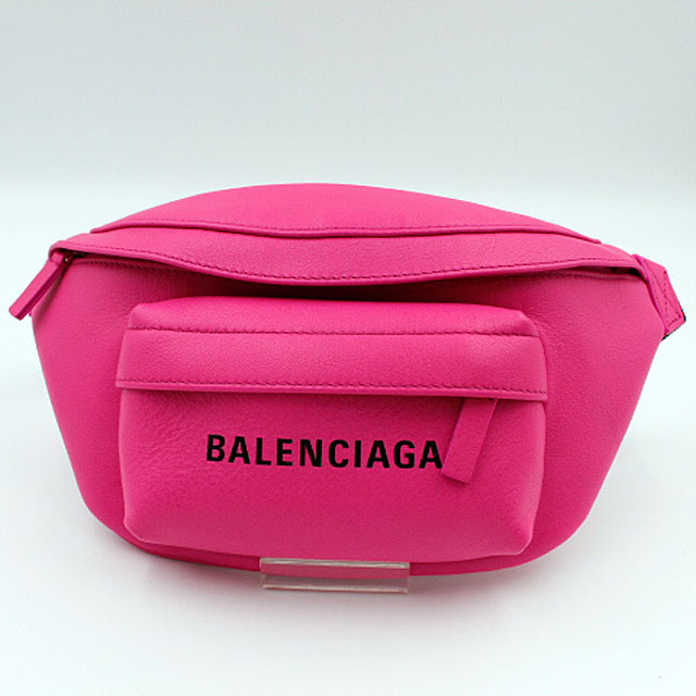 【BALENCIAGA】バレンシアガ ボディバッグ ウエストポーチ エブリデイ ベルトパック XS 579617/レザー/ピンク 【中古】