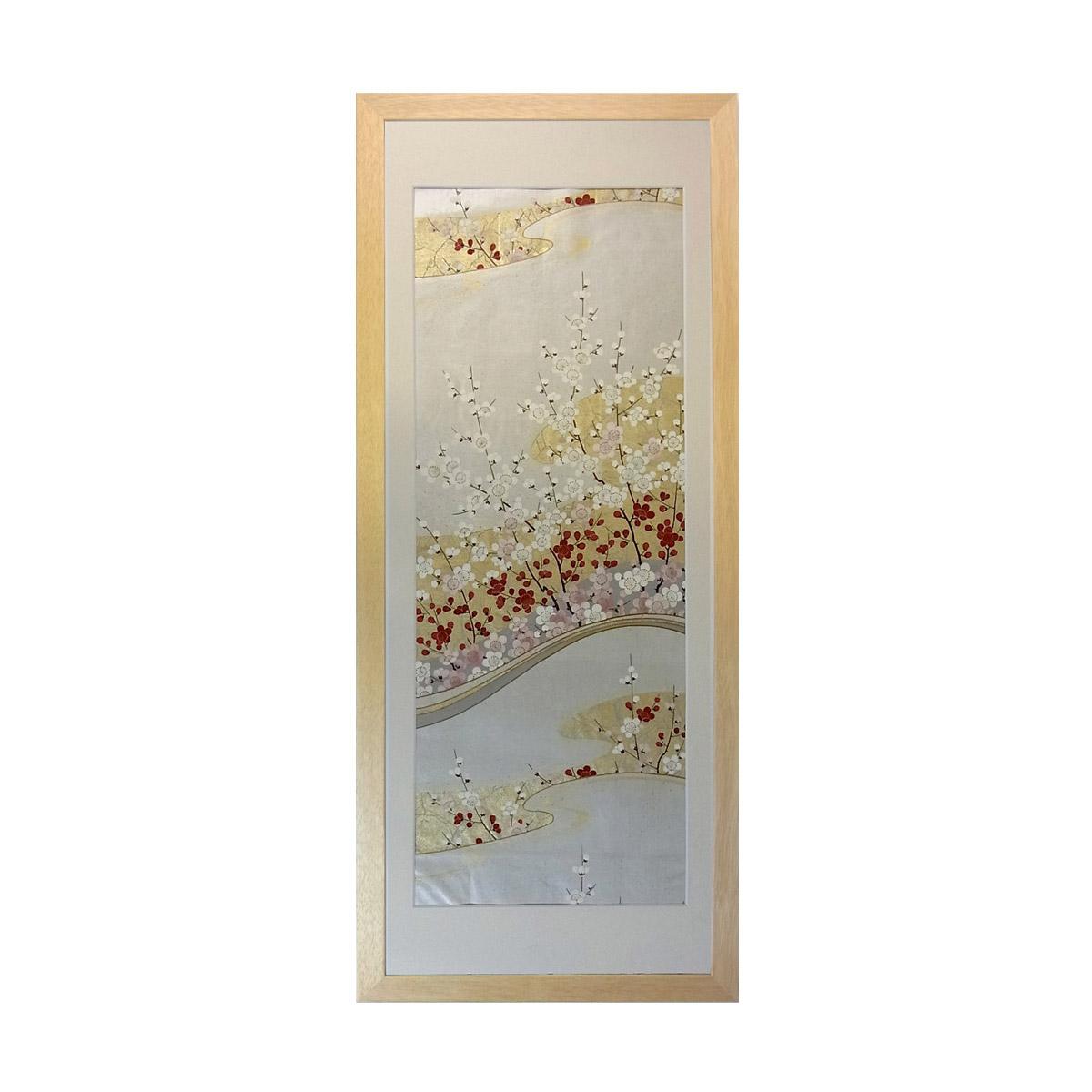 和風の額 壁掛インテリア 西陣織帯原画のアートフレーム 《8》