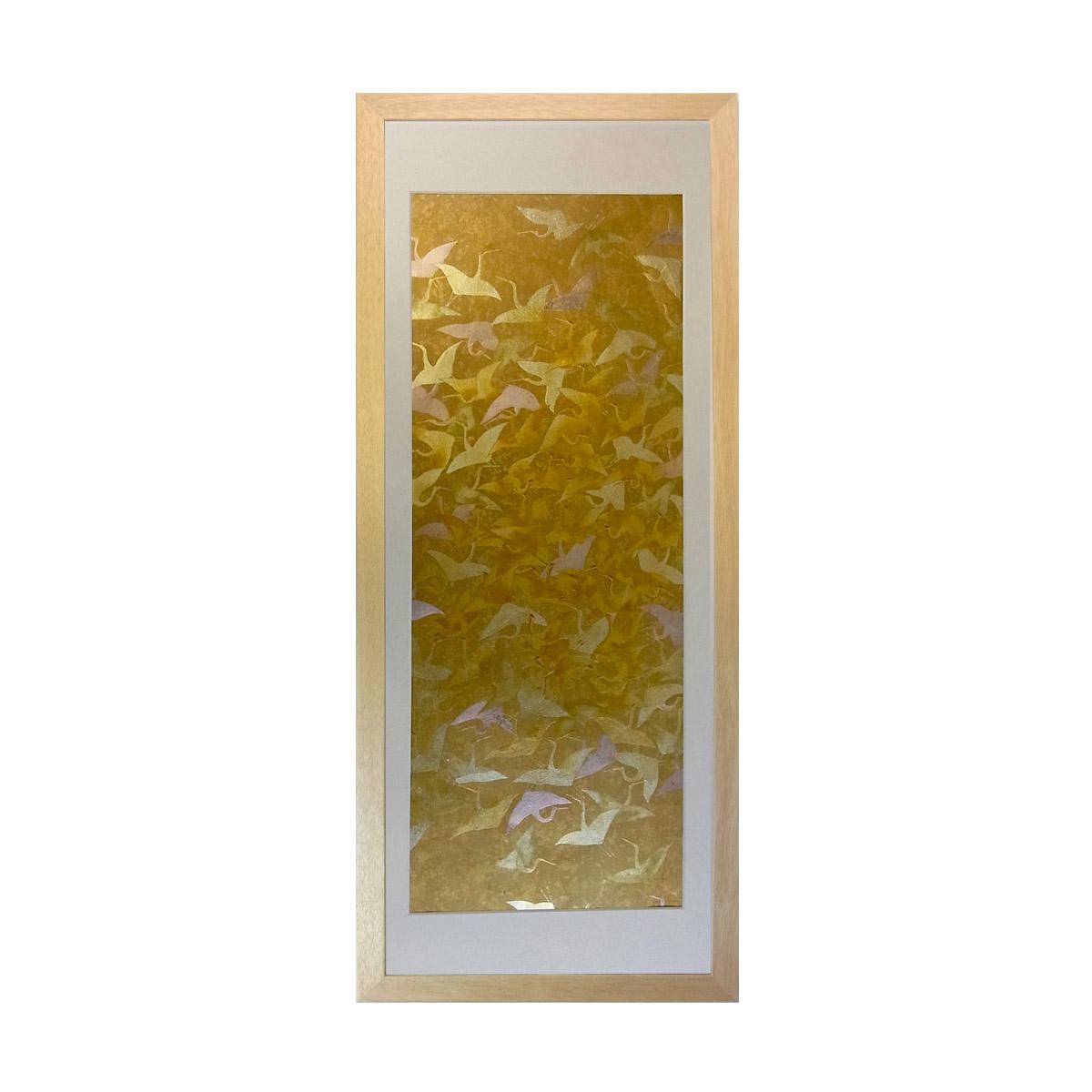 和風の額 壁掛インテリア 西陣織帯原画のアートフレーム 《13》