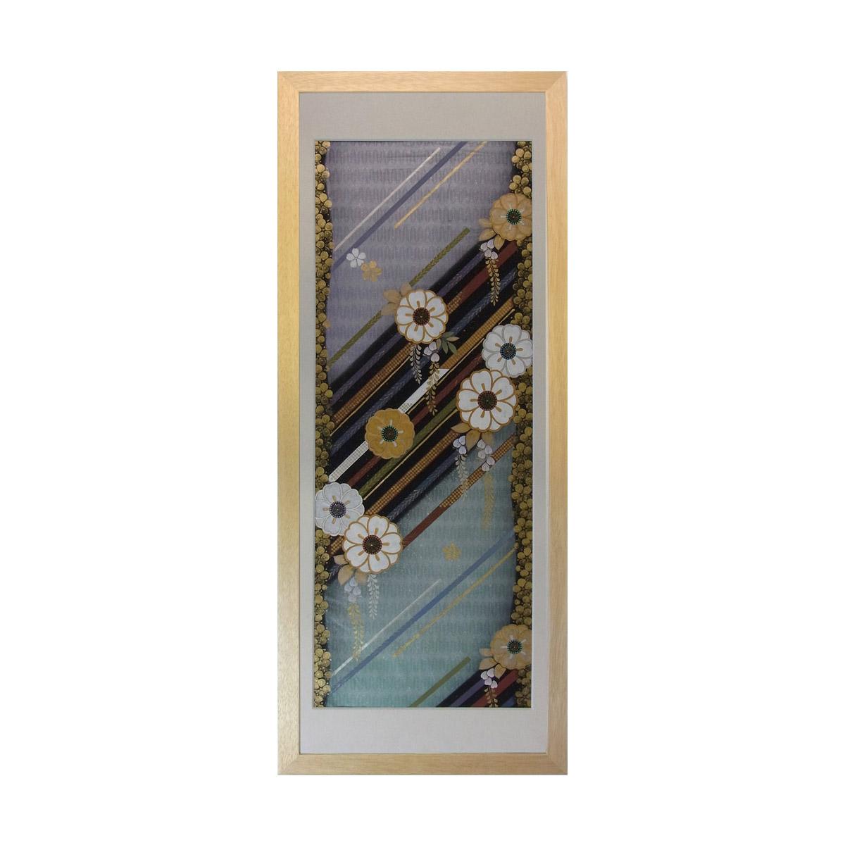 和風の額 壁掛インテリア 西陣織帯原画のアートフレーム 《29》